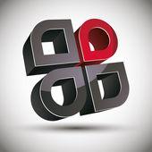 3D abstraktní ikona s 4 prvky