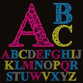 Beautiful floral letters font vector alphabet