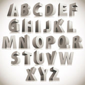 3D font big white letters standing vector eps 8