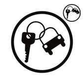 Car key vector simplistic icon.