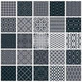 Vintage tiles seamless patterns 25 monochrome designs vector se