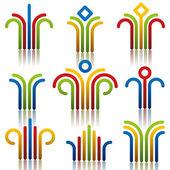 Abstract symbols set.