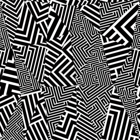 Geometric optical seamless pattern.