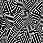 Geometric optical seamless pattern black and white vector background