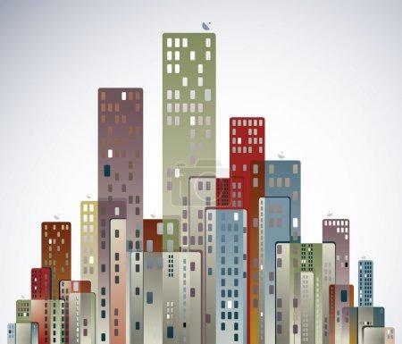 Illustration pour Illustration vectorielle panorama ville moderne . - image libre de droit