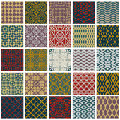 Vintage tiles with grunge textures seamless patterns