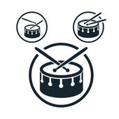 Snare drum icon single color vector music theme symbol for your