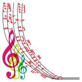 Music notes composition musical theme background vector illust