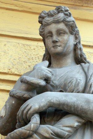 Photo pour Concert de la déesse. dans la mythologie grecque est la déesse qui donne la santé. la déesse est la fille du Dieu de la médecine Asclépios et son épouse Michelle. elle a été dépeint comme une jeune femme, a donné la coupe un serpent, qui est considéré comme le symbo - image libre de droit