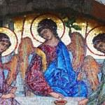 Holy Trinity (Mosaic, Byzantine style of iconography, 1804, Budva, Montenegro)