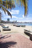 Pláže Canteras, las palmas de gran canaria, Španělsko