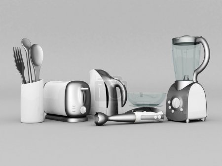 Photo for Picture of household appliances on a gray background - Royalty Free Image