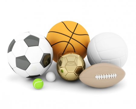 Photo for Sport balls isolated on white background - Royalty Free Image