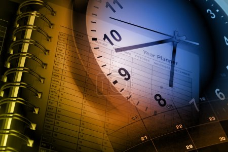 Photo for Clock face, calendar and year planner - Royalty Free Image