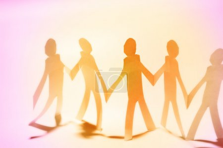 Photo for Group of holding hands. Teamwork concept - Royalty Free Image