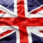 Closeup of Union Jack flag...