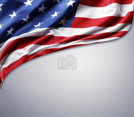 Photo for Closeup of American flag on plain background - Royalty Free Image