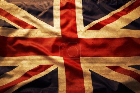 Photo pour Gros plan du drapeau union jack grunge - image libre de droit