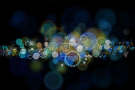 Foto de Círculos coloridos de luz fondo abstracto - Imagen libre de derechos