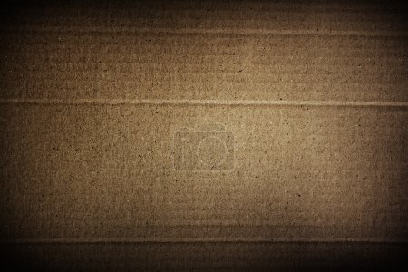 Photo for Closeup of brown cardboard texture - Royalty Free Image