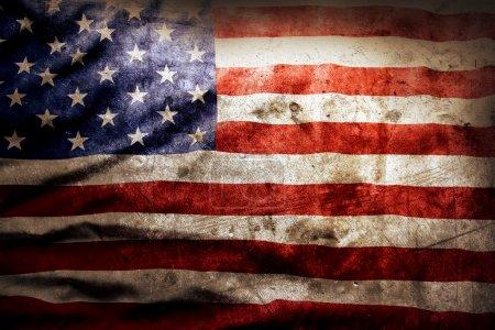 Foto de Primer plano de la bandera americana grunge - Imagen libre de derechos