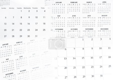 Photo for Closeup of dates on calendar pages - Royalty Free Image