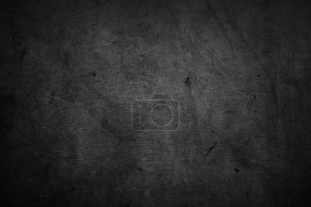 Photo for Closeup of dark grunge textured background - Royalty Free Image