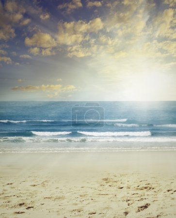 Photo for Sand, surf and sun beach scenery - Royalty Free Image