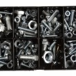 Assorted nuts and bolts in plastic box...