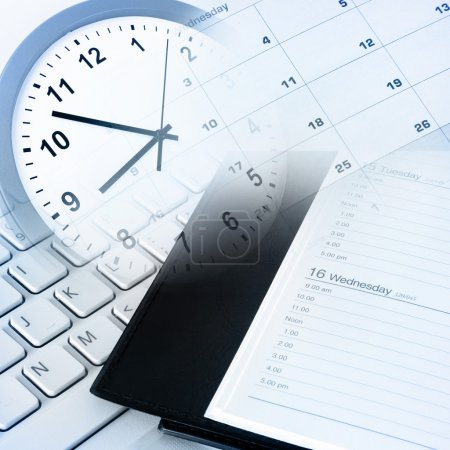 Photo for Various business objects. Time management - Royalty Free Image