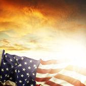 "Постер, картина, фотообои ""американский флаг"""