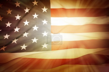 Photo for Brightly lit American flag background - Royalty Free Image