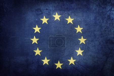 Photo for European Union flag. Grunge effect - Royalty Free Image