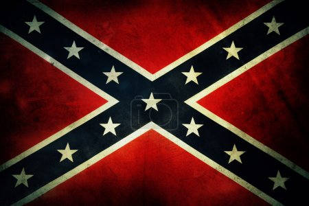 Photo for Closeup of grungy Confederate flag - Royalty Free Image