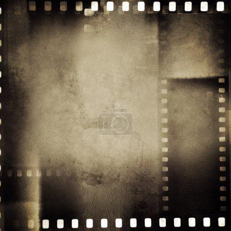 Photo pour Images du film négatif sur fond grunge - image libre de droit