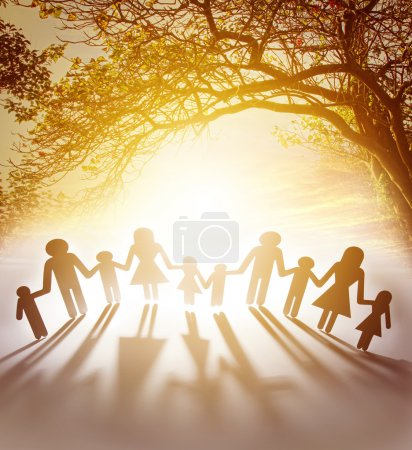 Photo for Family united together holding hands - Royalty Free Image