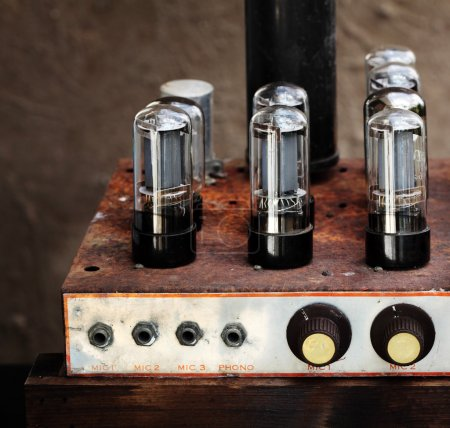 Photo for Vintage valve tube amplifier from 1950 - Royalty Free Image