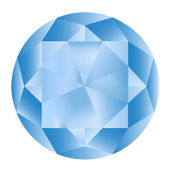 Diamond anatomy pattern in standard cut for modern round brilliant with 58 facets illustrated by blue shown premium design in 10 EPS format