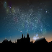 Abstract vector science image of the Milky Way with the Constellation over Bangkok City icon