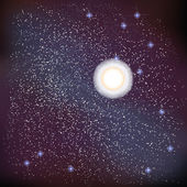 Star over constellation at outer space Encapsulated postscript 10 vector