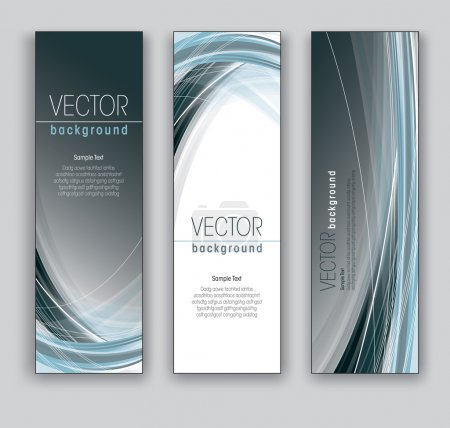 Illustration for Vector Banners. Abstract Backgrounds. Eps10. - Royalty Free Image
