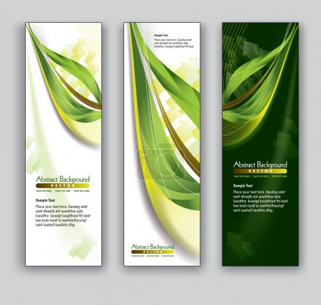 Illustration for Abstract Banners. Vector Backgrounds. Eps10. - Royalty Free Image