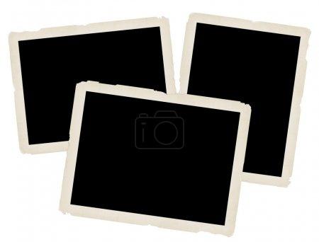 Ilustración de Fotos antiguas sobre fondo blanco, ilustración vectorial - Imagen libre de derechos