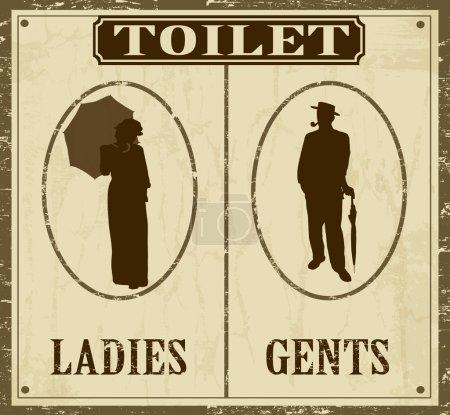 Toilet retro poster