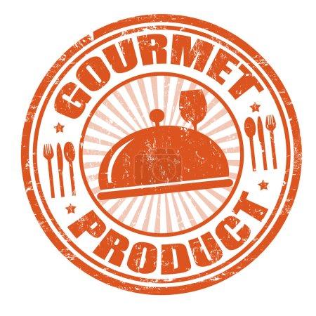 Illustration pour Produit gourmand timbre caoutchouc grunge, illustration vectorielle - image libre de droit