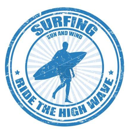 Surfing stamp