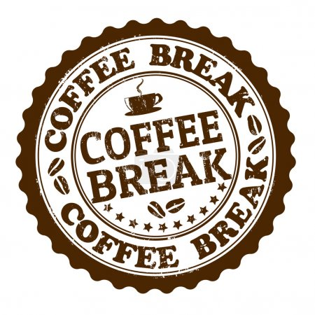 Coffee break stamp