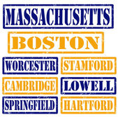 Massachusetts Cities stamps