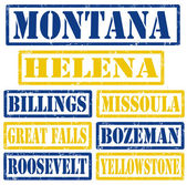 Montana Cities stamps