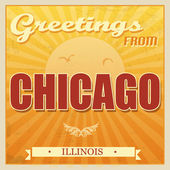 Vintage Touristic Greeting Card - Chicago Illinois vector illustration